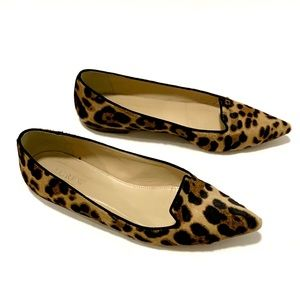 J. Crew Collection 7.5 Leopard Hair Brown Flats
